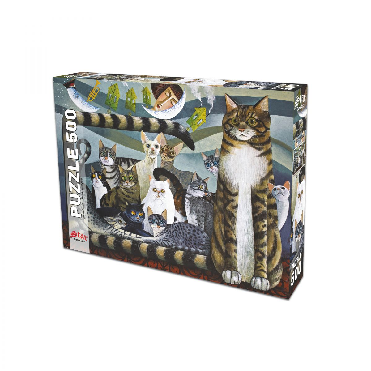 500 Parça Kedi Ailesi Puzzle