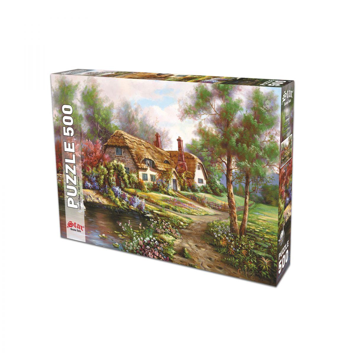 500 Parça Havuzlu Bahçe Puzzle