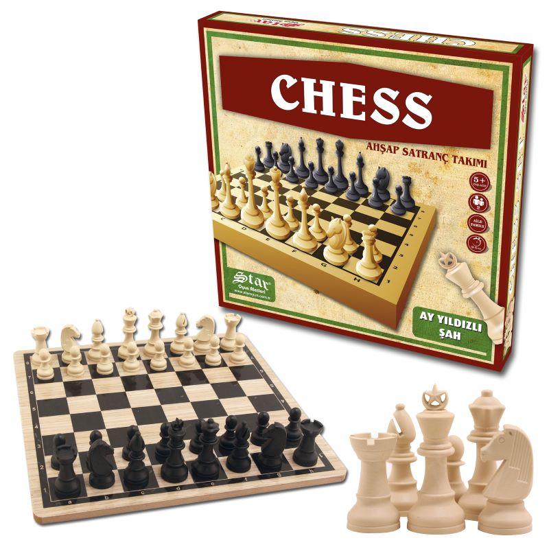 Chess Ahşap Satranç Takımı