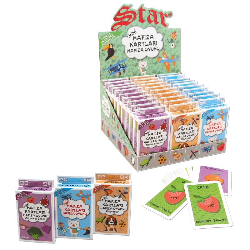 Mini Hafıza Oyun Kartları