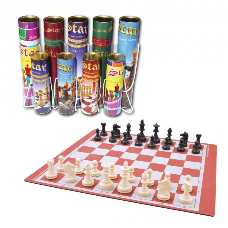Star Cylinder Chess Set Small Size