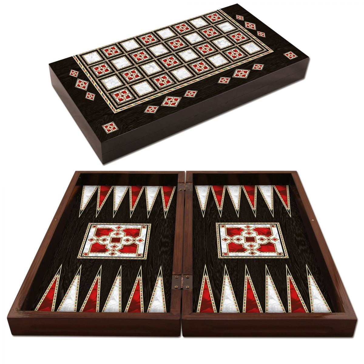 Polyester Antic Pearl Backgammon