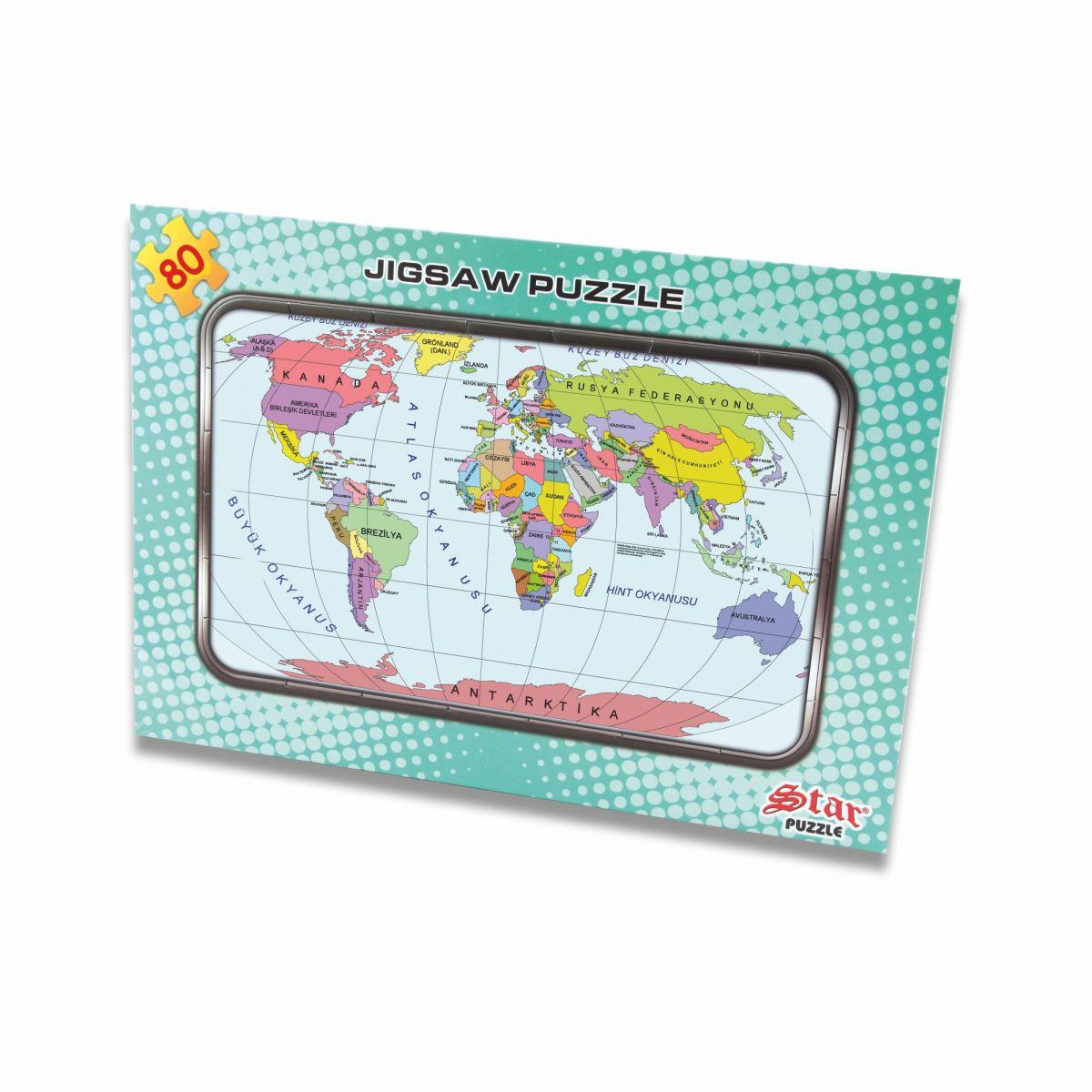 Harita Yapboz Dünya