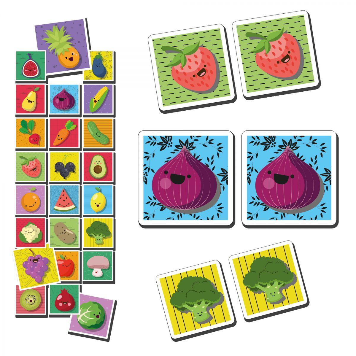 Eşleştirma Kartları ( meyve & sebzeler )