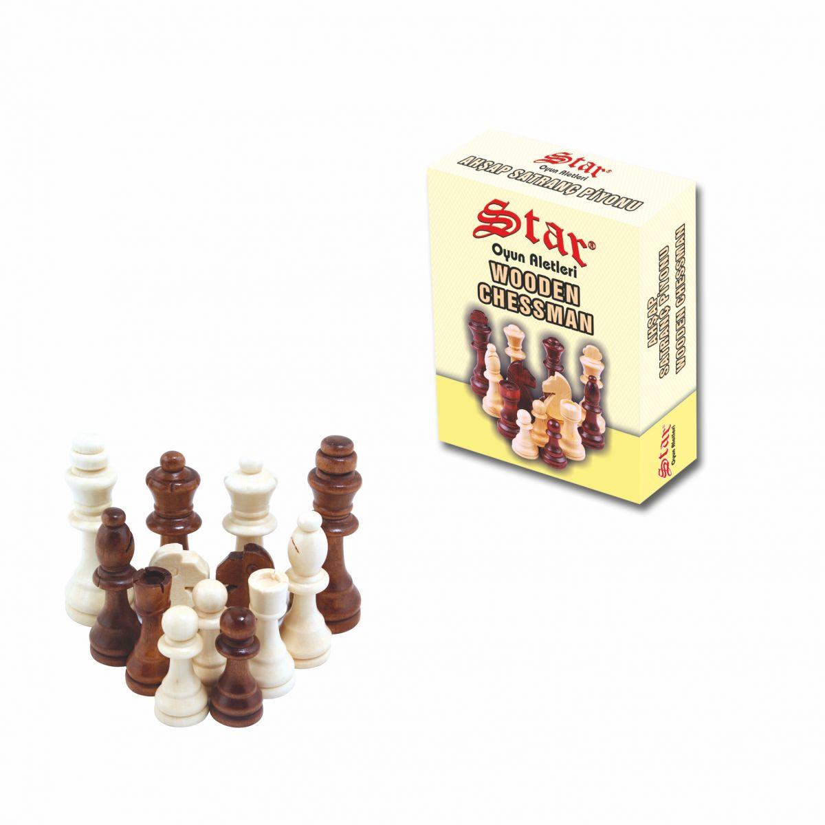 Satranç Piyonu Ahşap No:1