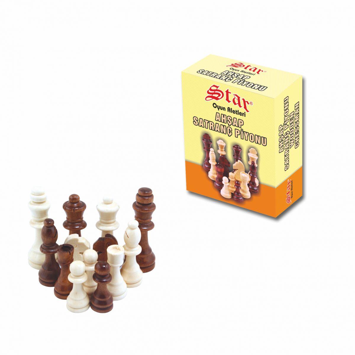 Satranç Piyonu Ahşap No:2