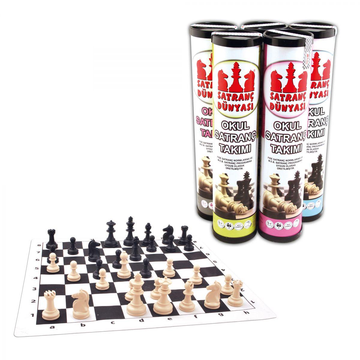 Satranç Dünyası Rulo Satranç Büyük Boy