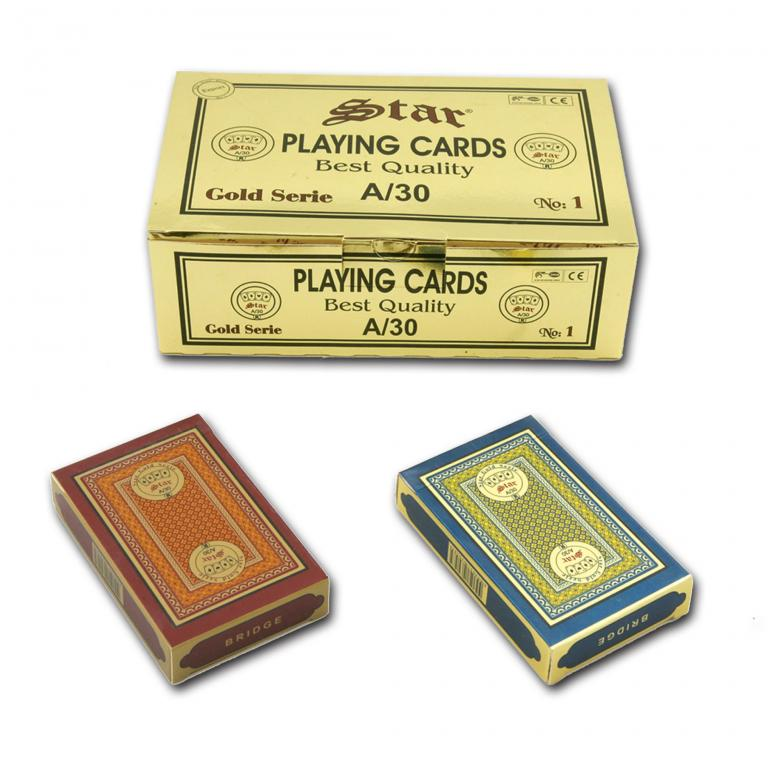 Star Gold %100 Plastic Series No:1 Playing Cards