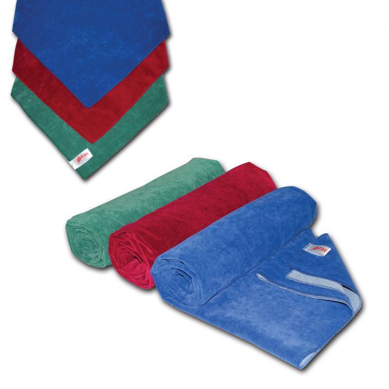 Flock Fabric Table Cloth Blue
